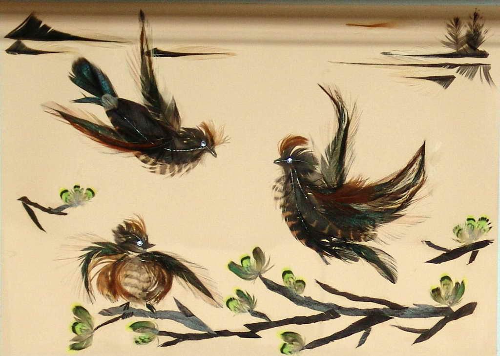 Птички из перья